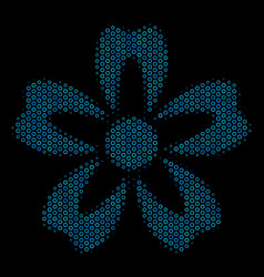 flower composition icon of halftone bubbles vector image