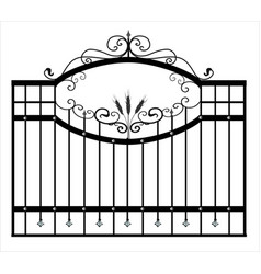 Gates forged sketch artistic forging iron door vector