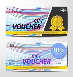 Gift Voucher Template sporty and colorful style de vector image