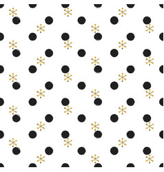 glitter gold polka dot christmas new year seamless vector image