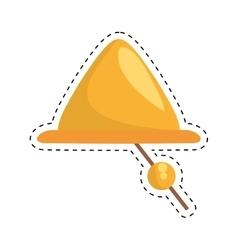 Gold ship bell nautical symbol cut line vector