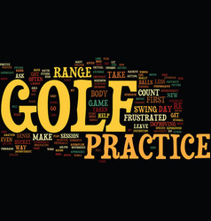 golf practice isn t important if text background vector image
