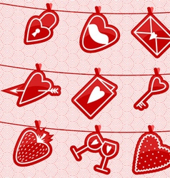 Haning Love Icons vector image