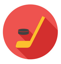 hockey icon hockey stick icon hockey sport symbol vector image