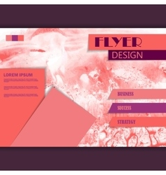 Horizontal business brochure for design vector