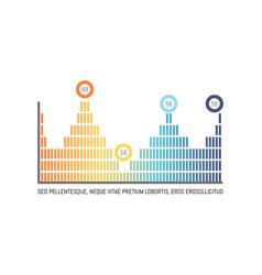 Infochart in different colors statistics design vector