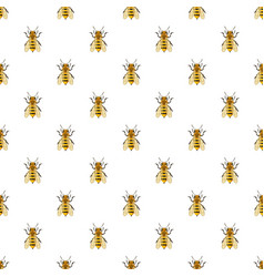 insects bee pattern vector image