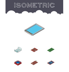 Isometric training set of soccer tennis vector