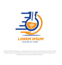 laboratory logo designs vector image