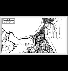 Las palmas spain city map in retro style outline vector