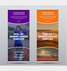 layout roll up banner for presentation and vector image