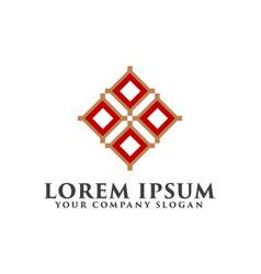 Logo for interior furniture shops decor items vector