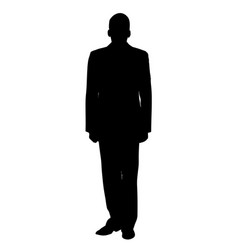 man in military uniform silhouette vector image