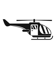 military helicopter icon simple style vector image