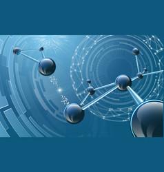 molecular structure on futuristic background vector image