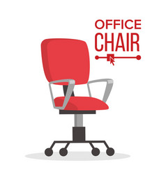 Office chair business manager empty seat vector