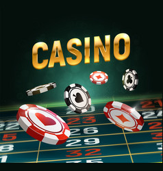 online casino black and red vector image