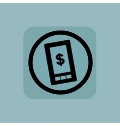 Pale blue dollar screen sign vector