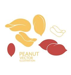 Peanut Icon set vector image