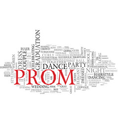 Prom word cloud concept vector