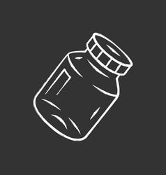 refillable spice jar chalk icon vector image