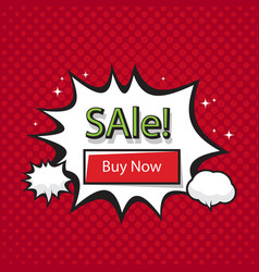 sale buy now bubble red background image vector image