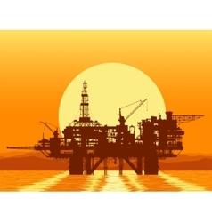 Sea oil rig Offshore drilling platform vector image