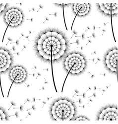 Seamless background with dandelion vector