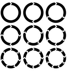 Set circular infographics with arrows vector