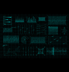 set hud infographic elements sci-fi charts and vector image