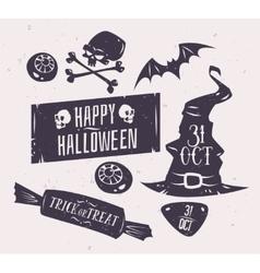 Set of halloween badges vector