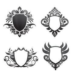 shield-ornament-set vector image