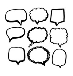 speech bubble icon hand drawn vector image