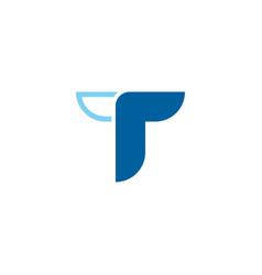 t letter icon design vector image