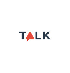 Talk logotype vector