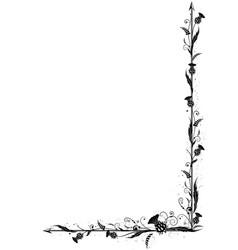 thistle border vector image
