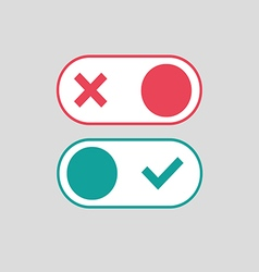 Toggle switch icon vector image
