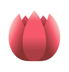 Tulip flower icon vector