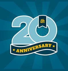 twenty years anniversary with ribbon vector image