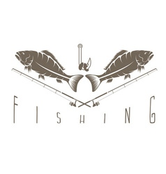 Vintage fishing Label vector