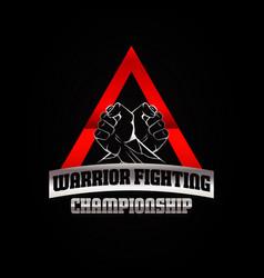 Warrior fighting championship logo symbol icon vector