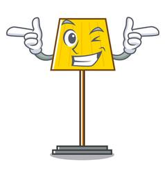 Wink floor lamp character cartoon vector