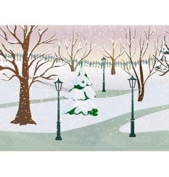 Winter Park Landscape vector