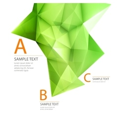 Abstract 3d green triangle backgrond vector image vector image