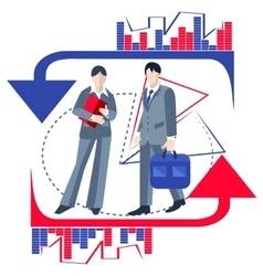 Business people isolated infographics arrows vector image vector image