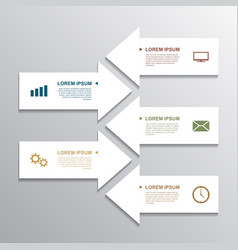 paper arrow infographic vector image