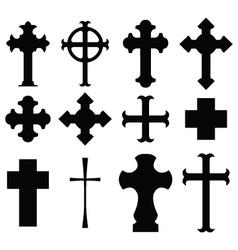 types of cross vector image vector image