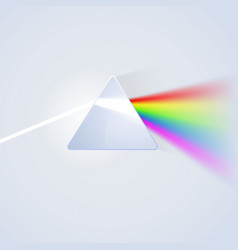 glass prism on light background vector image vector image