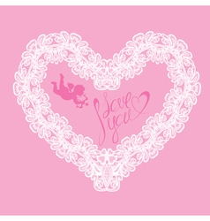 hearts lace 5 380 vector image vector image