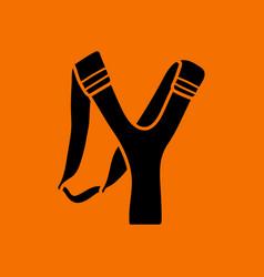 hunting slingshot icon vector image